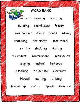 Writing a Snowman Adventure Story