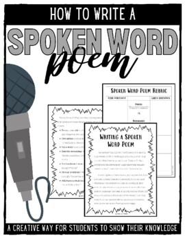 Writing a Spoken Word Poem