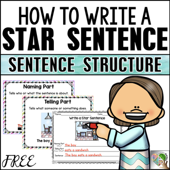 Sentence Building - Naming and Telling Parts Writing Center (FREE)