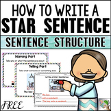 Sentence Building - Naming and Telling Parts of a Sentence (FREE)