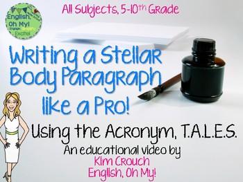 Writing a Stellar Body Paragraph like a Pro!