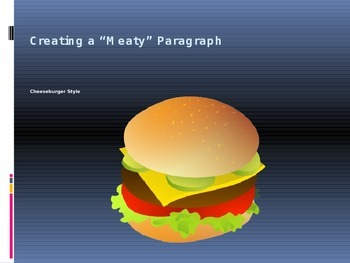 Writing a Strong Paragraph - Cheeseburger Style, Part One