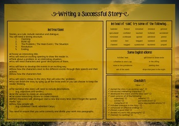 Writing a Successful Story Checklist