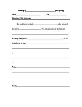 Writing a Summary Outline