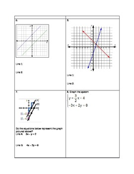 Writing a System of Equations Given a Graph