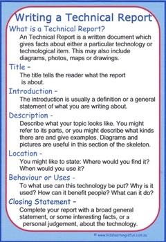 Writing a Technical Report Cheat Sheet