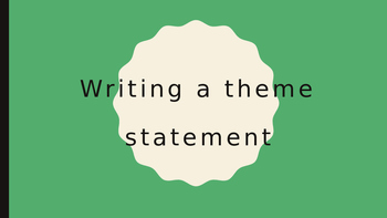 Writing a Theme Statement