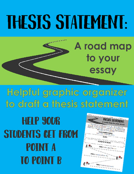 Writing a Thesis Statement: A Road Map for your Essay -- Graphic Organizer