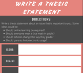 Writing a Thesis Statement Mini-Lesson and Worksheet Bundle