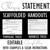 Writing a Thesis Statement: Scaffolded Organizers Perfect for Differentiation