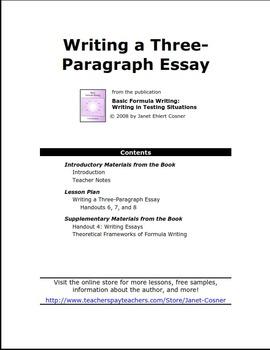 Writing a Three-Paragraph Essay
