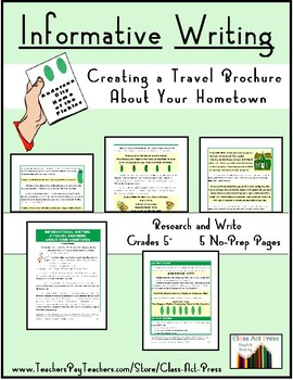 Informational Writing: A Travel Brochure about Your Hometown ($3)
