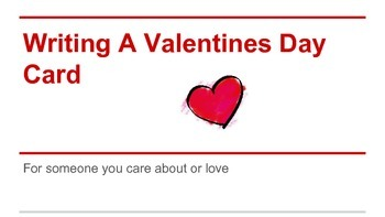 Writing a Valentines Day eCard: Explicit Step by Step inst
