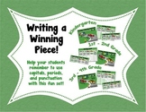 Writing a Winning Piece! Sentence Structure & Goals Set fo