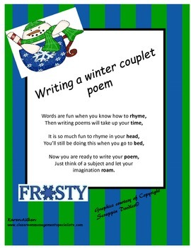 Writing a Winter Couplet Poem