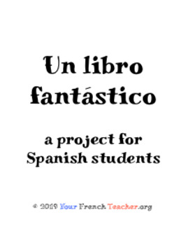 Writing a children's book (Spanish project)