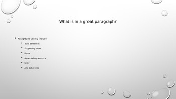 Writing a great paragragh