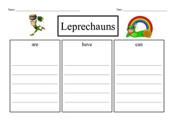Writing a paragraph about leprechauns