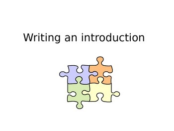 Writing a proper introduction