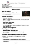 SUPER DISCOUNTED: Writing a speech (Editable)