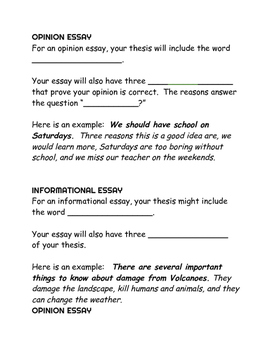 Writing A Thesis And Support  Paragraph Essay Opinion Essay  Originaljpg