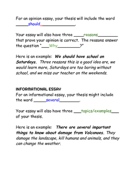 Writing a thesis and support, 5 paragraph essay, opinion essay, PARCC Ohio AIR