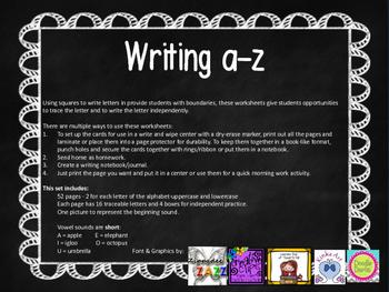 Writing a-z