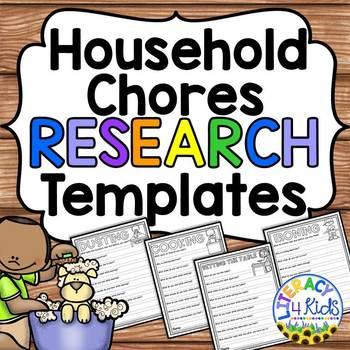 Writing about Chores No Prep Printables for Grades 2-3