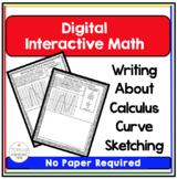 Calculus Digital Interactive Math Curve Sketching