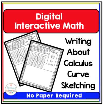 Calculus Digital Interactive Math Curve Sketching