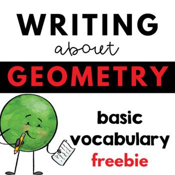 Writing about Math - Geometry - Basic Vocabulary