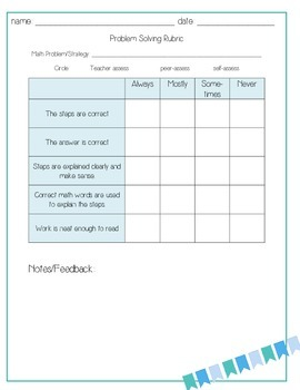 Writing about Math Journal Page Pack