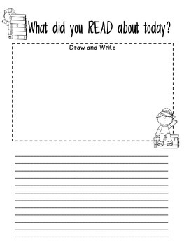 What did you READ about today? - Writing about Reading