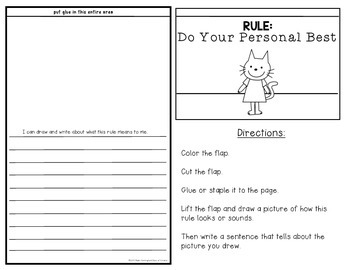 Back to School {Writing about Rules} Lift the Flaps!