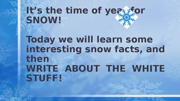 Writing about Snow with Snowflake Bentley