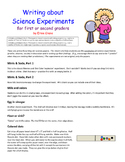 Writing about science experiments