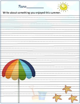 Writing about summer