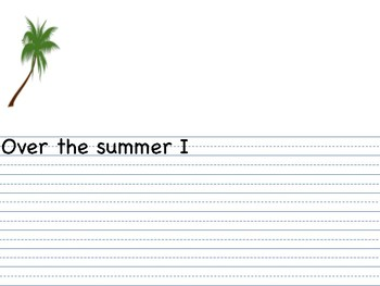 Writing about summer vacation