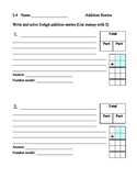 Writing addition number stories form