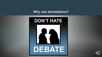 Writing an Argumentative Essay - Annotations