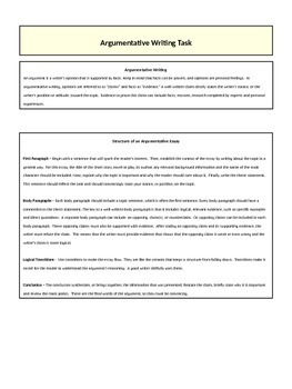 Writing an Argumentative Essay - Understanding the Elements of Story