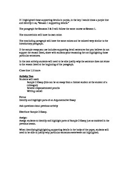 Writing an Argumentative Essay from Begining to End