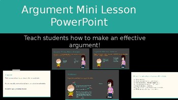 Writing an Effective Argument  Mini lesson PowerPoint