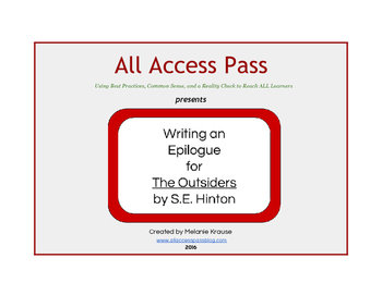 Writing an Epilogue for The Outsiders by S.E. Hinton