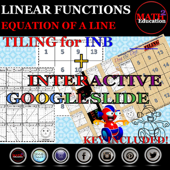 Writing an Equation of a Line Tiling INB and Google Slide