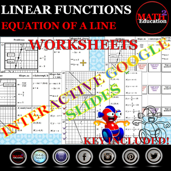 Writing an Equation of a Line Worksheets plus Google Slides