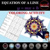 Writing linear equations in slope-intercept form coloring activity