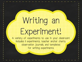 Writing and Conducting an Experiment