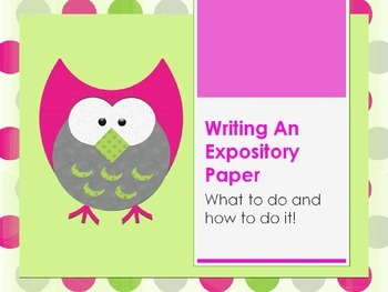 3rd, 4th, 5th Grade Writing an Expository Paper