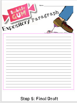 How to Blow a Bubble: Writing an Expository Paragraph Using the Writing Process